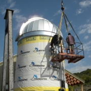 Finishing dome installation