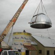 Dome moved into place