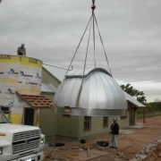 Dome is lifted from the ground
