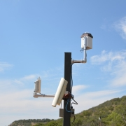 Weather telemetry pole